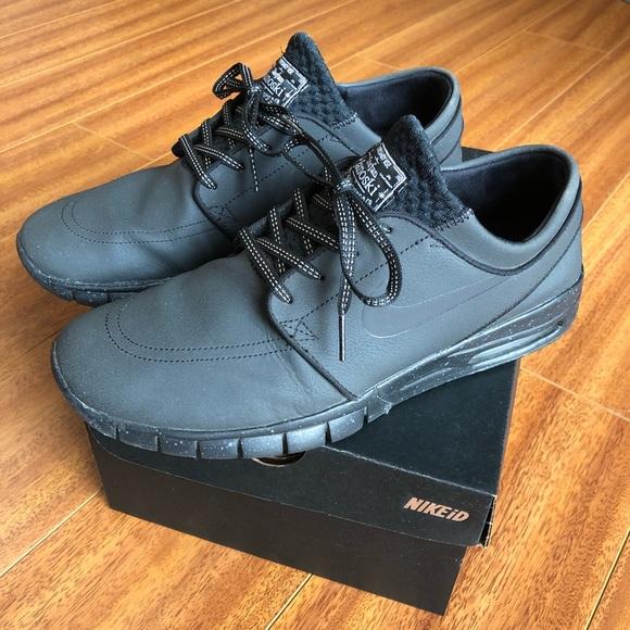 5f82ce733aa Custom Nike iD Stefan Janoski Air Max Triple Black